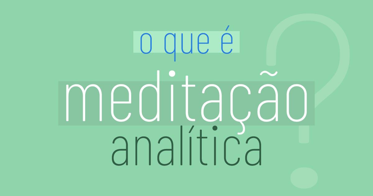 meditação analítica